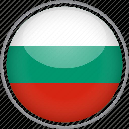 bulgaria, circle, country, flag, national icon