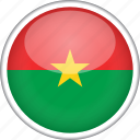 burkina faso, circle, country, flag, national icon