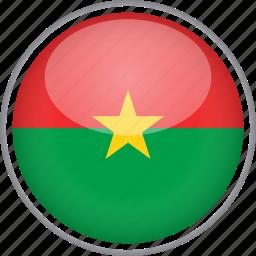 burkina faso, circle, country, flag, national icon