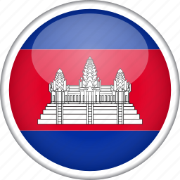 cambodia, circle, country, flag, national icon