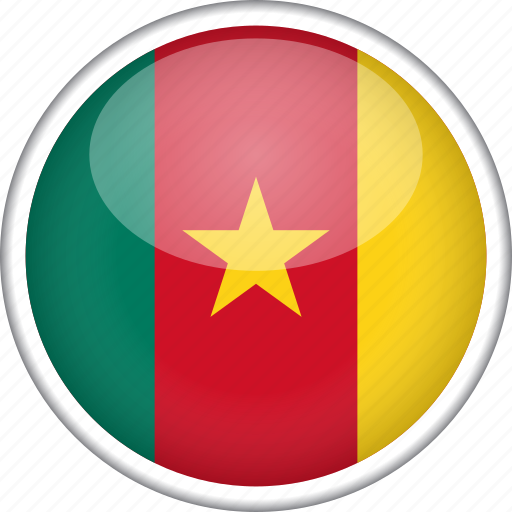 cameroon, circle, country, flag, national icon
