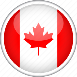 canada, circle, country, flag, national icon