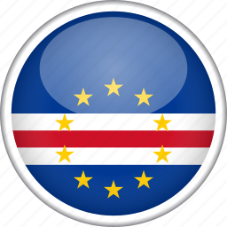 cape verde, circle, country, flag, national icon