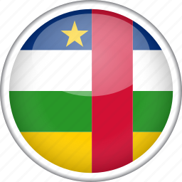 central african republic, circle, country, flag, national icon