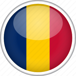chad, circle, country, flag, national icon