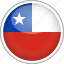 chile, circle, country, flag, national icon