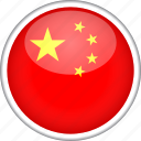 china, chinese, circle, country, flag, national