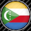 circle, comoros, country, flag, national icon
