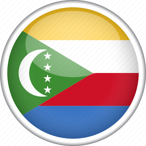 circle, comoros, country, flag, national icon