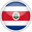 circle, costa rica, country, flag, national icon