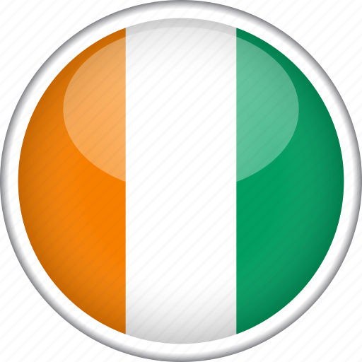 circle, cote d'ivoire, country, flag, national icon