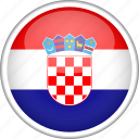 circle, country, croatia, flag, national icon