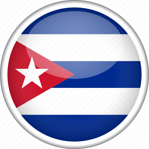 circle, country, cuba, flag, national icon