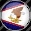 american samoa, circle, country, flag, national icon