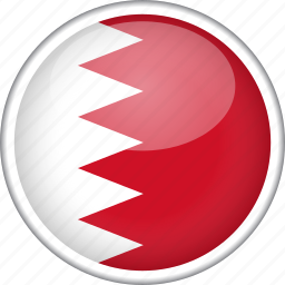bahrain, circle, country, flag, national icon