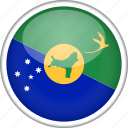 chrismas island, circle, country, flag, national icon
