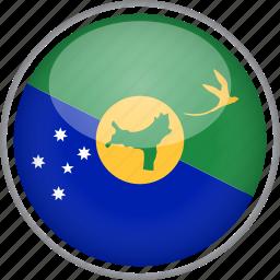 chrismas island, circle, country, flag, national icon