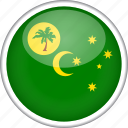 circle, cocos islands, country, flag, national icon