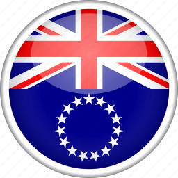 circle, cook islands, country, flag, national icon