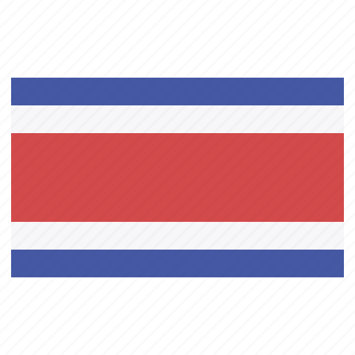 banner, costa rica, country, flag, flags, national icon