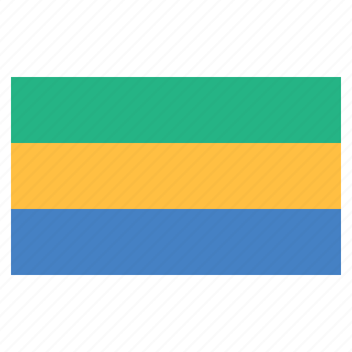 banner, country, flag, flags, gabon, national icon