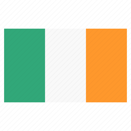 banner, country, flag, flags, ireland, national icon