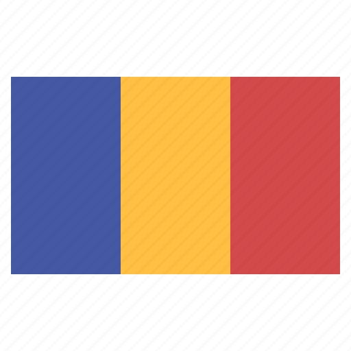 banner, country, flag, flags, national, romania icon