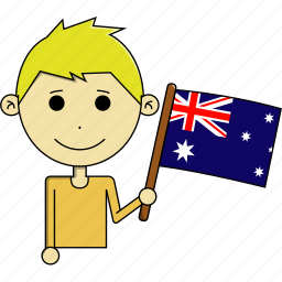 australia, avatar, country, fantastic, flags, man, world icon