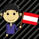 austria, avatar, country, fantastic, flags, man, world icon