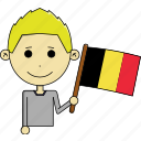 avatar, belgium, country, fantastic, flags, man, world icon