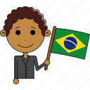 avatar, brazil, country, flags, man, world, worldfantastic icon