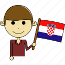 avatar, country, croatia, cute, flags, man, world icon