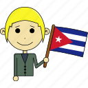 avatar, country, cuba, fantastic, flags, man, world icon