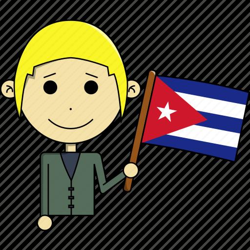 avatar, country, cuba, fantastic, flags, man, world icon