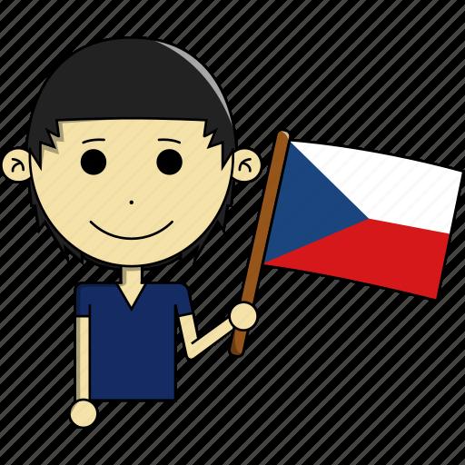 avatar, country, czech, flags, man, republic, world icon