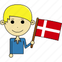 avatar, awesome, country, denmark, flags, man, world icon
