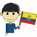 avatar, country, cute, ecuador, flags, man, world icon