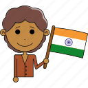 avatar, country, cute, flags, india, man, world icon