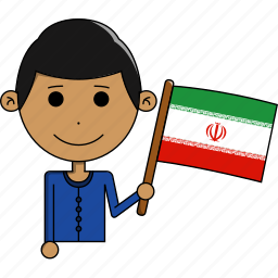 avatar, country, cute, flags, iran, man, world icon