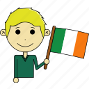 avatar, awesome, country, flags, ireland, man, world icon