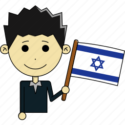 avatar, country, fantastic, flags, israel, man, world icon