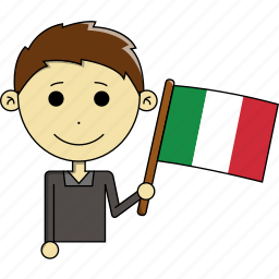avatar, country, cute, flags, italy, man, world icon