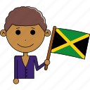 avatar, country, cute, flags, jamaica, man, world icon
