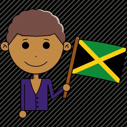 avatar, country, cute, flags, jamaica, man, world icon