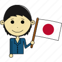 avatar, country, fantastic, flags, japan, man, world icon