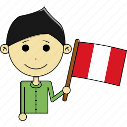 avatar, awesome, country, flags, man, peru, world icon
