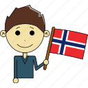 avatar, country, fantastic, flags, man, norway, world icon