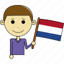 avatar, awesome, country, flags, man, netherlands, world icon