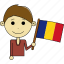 avatar, country, fantastic, flags, man, romania, world icon