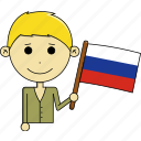 avatar, awesome, country, flags, man, russia, world icon